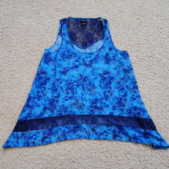 SOLD Stitch Lacey Tank Top